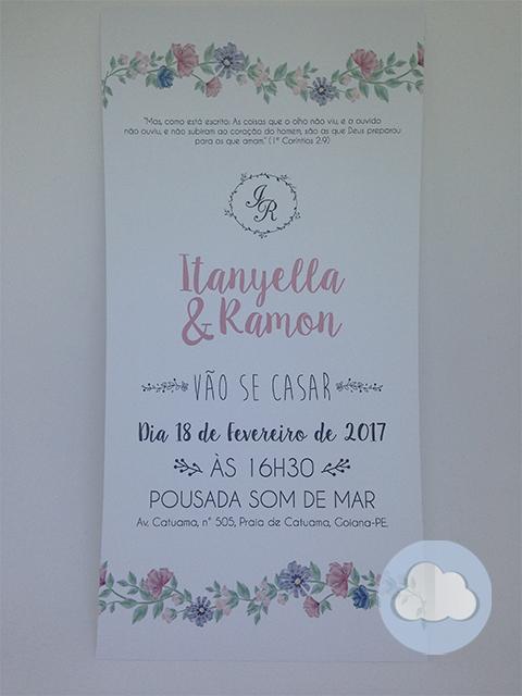 Itanyella - Casamento - Convite