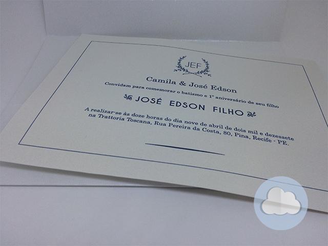 José Edson- Batizado - Convite