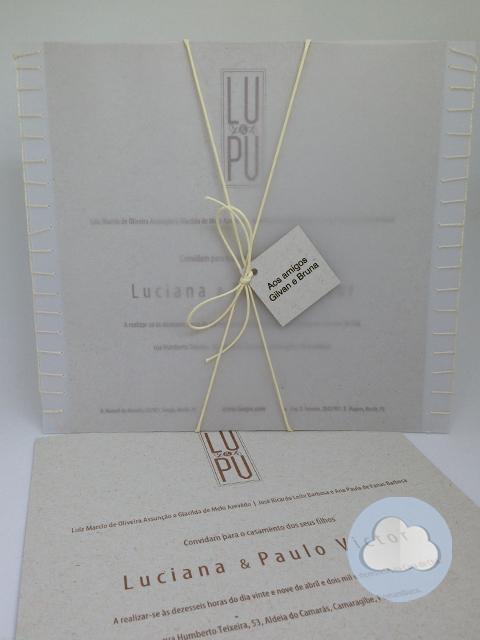 Luciana  - Casamento- Convite
