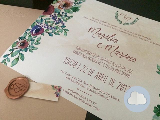 Marília e Mariano - Casamento - Convite